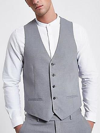 River Island Mens Light grey smart vest
