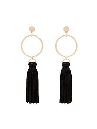 Forever New Celeste Geo Tassel Drop Earrings - Black. - 00