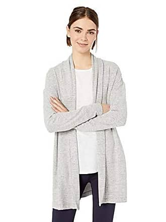 Daily Ritual Womens Cozy Knit Open Cardigan, Heather Grey, Small