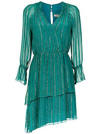 Fillity Vestido de seda mangas longas - Verde