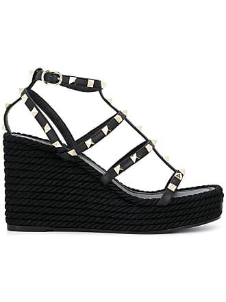 669db2089300 Valentino Valentino Garavani Rockstud platform sandals - Black
