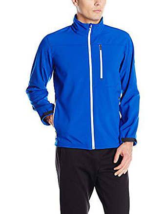 2(x)ist Mens Full Zip Jacket, Cobalt/Silver Zippers, Small