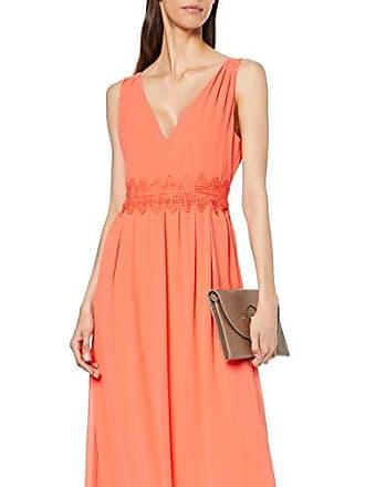 1599a01b6c Vila Clothes Vimilina S/l Maxi Dress/DC Robe, Orange Emberglow, 40