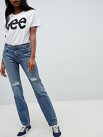 Lee 90s Rider Jean with Abrasions - Blue