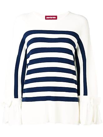 Guardaroba Suéter listrado mangas longas - Branco