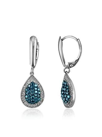 JewelersClub JewelersClub 3/4 Carat T.W. Blue and White Diamond Sterling Silver Earrings