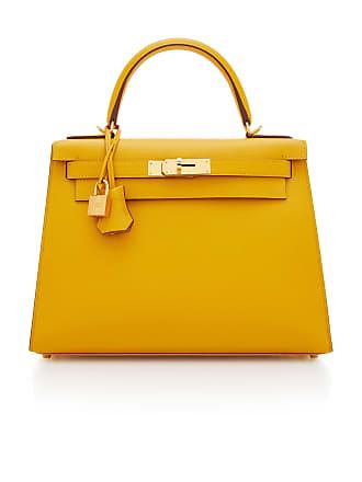 Hermès Hermes 28cm Jaune Ambre Epsom Leather Sellier Kelly