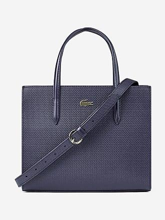 d61e1188ab6 Lacoste Sac cabas refente de cuir italien Bleu Lacoste