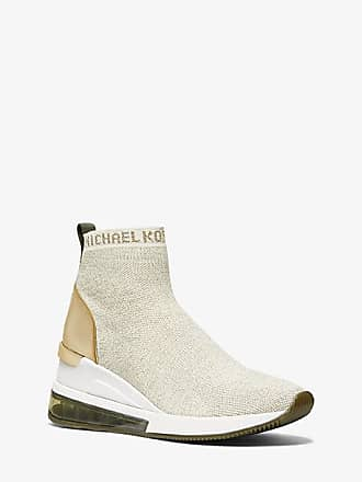 Michael Kors Skyler Extreme Metallic Stretch-Knit Sock Sneaker