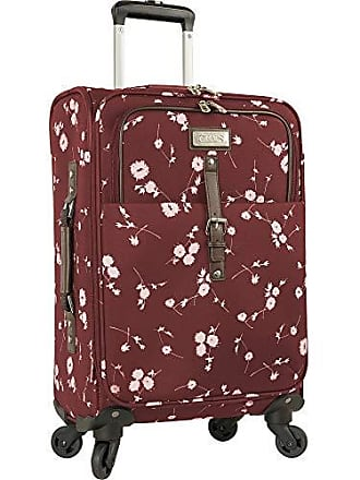 Chaps 20 Expandable Carry On Spinner Luggage Wine Ditzy Floral