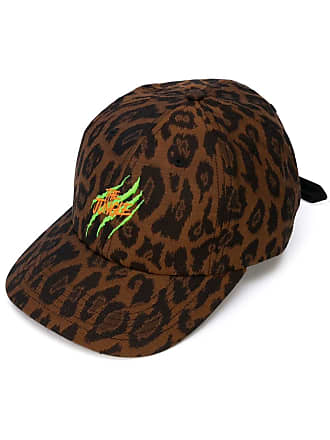 Just Don Chapéu com animal print - Marrom