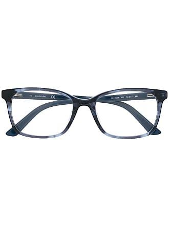 Calvin Klein Armação de óculos retangular - Azul