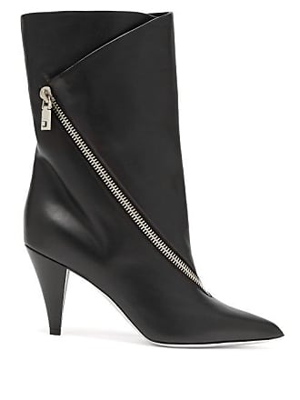 65b6d74aa09 Givenchy Point Toe Leather Ankle Boots - Womens - Black