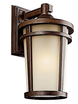 Kichler 49073BSTFL Outdoor Wall 1Lt Fluorescent in Brown Stone. ENERGY STAR qualified light fixture