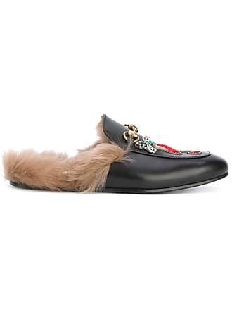 008c267e040 Gucci appliqué Princetown slippers - Black