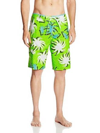 O'Neill Mens Santa Cruz Stretch Printed Boardshort, Yellow, 40