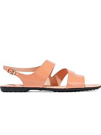16db2bbbd6 Tod's Tods Woman Patent-leather Sandals Antique Rose Size 36.5