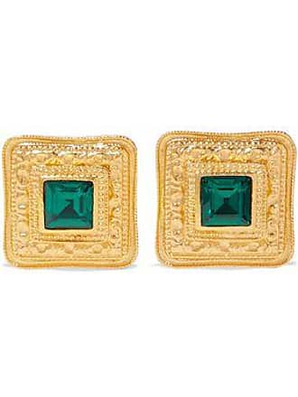 Ben-Amun Ben-amun Woman 24-karat Gold-plated Crystal Clip Earrings Gold Size