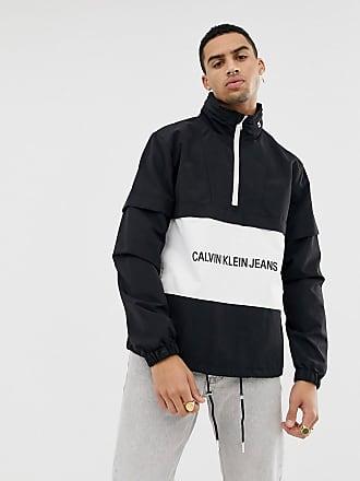 de16de8f8d2b09 Calvin Klein Jeans Giacca nera con logo istituzionale - Nero
