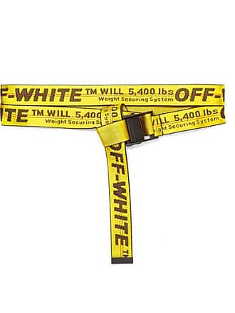 Off-white Canvas-jacquard Belt - Yellow