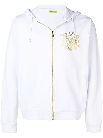 6a8736e6007 Versace Jeans Couture metallic logo bomber jacket - White