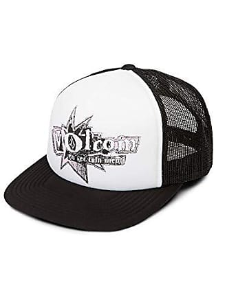 Volcom Juniors Stonar Waves Trucker Hat, White, One Size Fits All