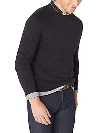 0460c979282b45 French Connection Mens Long Sleeve Stretch Cotton Sweater, Utility Blue  Crew, L