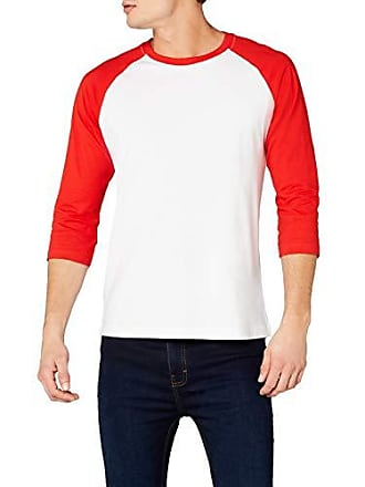 Urban Classics T-shirt à manches longues pour homme Multicolore Blanc rouge  Large 5e7d3c37218e