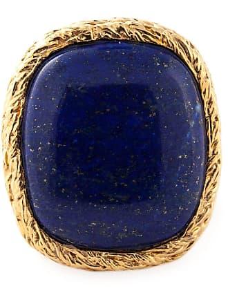 Aurélie Bidermann Anel banhado a ouro 18kt - Azul