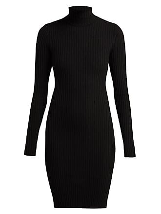 Wolford Rib Knitted Roll Neck Wool Blend Dress - Womens - Black