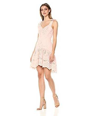 Parker Womens Odysseia Sleeveless Eyelet High Low Dress, Pearl Blush, 10