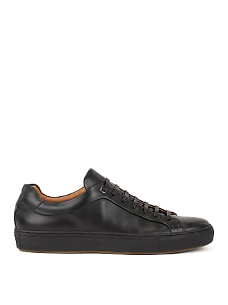 BOSS Hugo Boss Tennis-style sneakers in burnished leather 11 Black