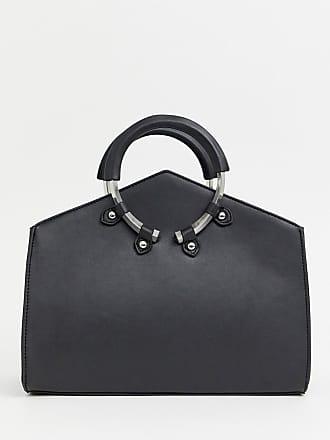 50c34c1c82 Asos Mini tote bag biseauté avec anses anneau - Noir