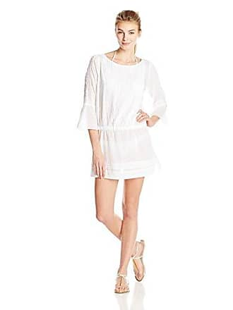 Vix Womens Solid White Daria Short Cover Up Dress, Small