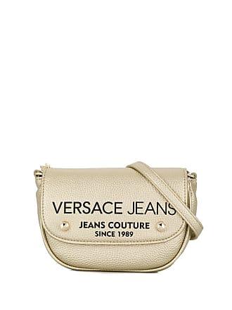 Versace Jeans Couture Bolsa transversal com logo - Dourado