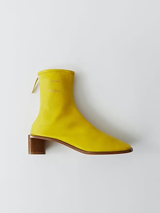 Acne Studios FN-WN-SHOE000111 Yellow/beige Branded ankle boots