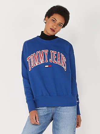 Sweat larges bandes Tommy Hilfiger en bleu pour femme