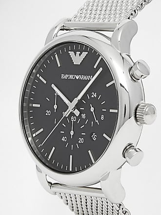 6c3a1a0da Emporio Armani AR1808 chronograph watch with stainless steel mesh strap -  Silver