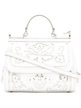 Dolce & Gabbana Bolsa tote Sicily média de couro - Branco