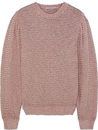 3dda66c7 Stella McCartney Stella Mccartney Woman Metallic Open-knit Sweater Antique Rose  Size 38