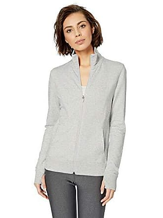 Amazon Essentials Womens Studio Terry Long-Sleeve Full-Zip Jacket, Light Grey Heather, XS
