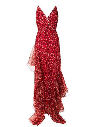 Isolda Vestido longo Amabile de seda - Vermelho
