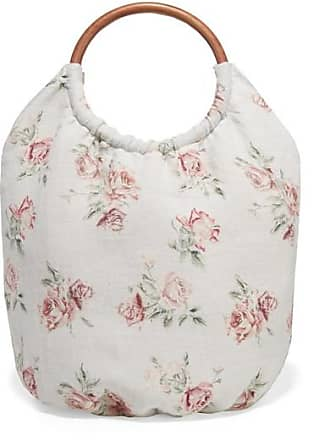 LoveShackFancy Fae Floral-print Canvas Tote - Ivory