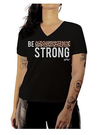 Luma Ventura Camiseta Baby Look Luma Ventura Be Strong Preta