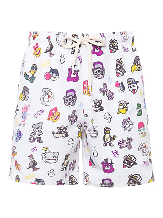 PURPLE YELLOW SHORT MASCULINO CARTOONS - BRANCO