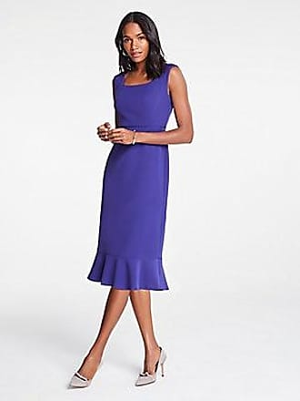 ANN TAYLOR Petite Eyelet Fluted Sheath Dress
