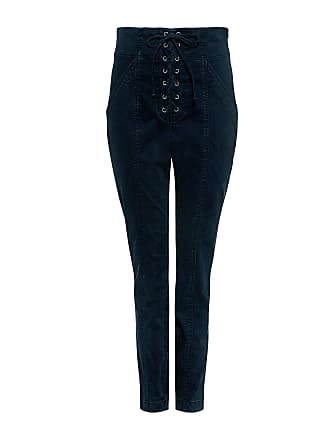 A.L.C. Kyle High-rise Lace-Up Cropped Pants Midnight