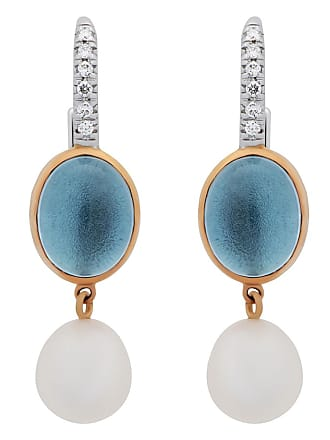 MIMI MILANO Topaz Pearl Diamond 18k Gold Earrings