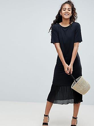 9bf5231cbad Asos Tall ASOS DESIGN Tall midi t-shirt dress with pleated hem
