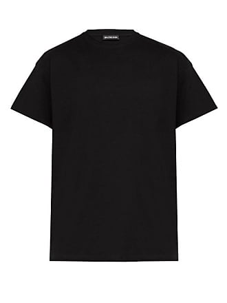 Balenciaga Gender Neutral Print T Shirt - Mens - Black